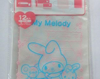 Sanrio My Melody & Friends Transparent Ziplock Resealable Polythene Bags - Pack Of 12 - 17cm x 12cm