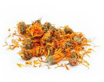 Calendula full flower and petals