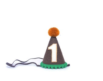 Campfire Party || Camping Party || First Birthday Party Hat || Circus Birthday Hat || Boy Birthday Party Hat