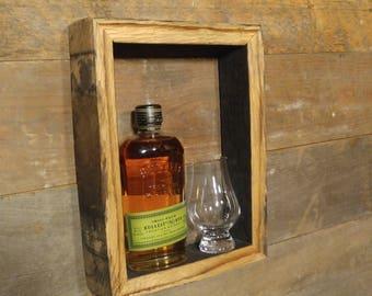 "12""x9"" - RECTANGLE - Bourbon Barrel Shadow-Box - Rustic Wall Art"
