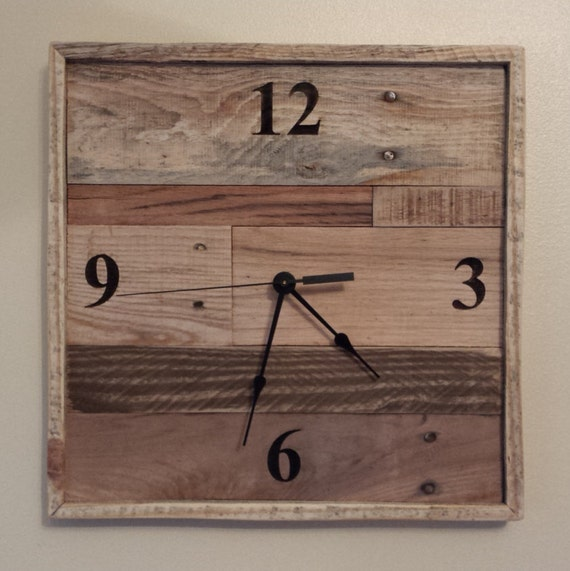 13 square frame wall clock Industrial wall clock