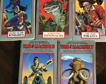 Time Machine Choose Your Own Adventure Book Set (5)1985 Rare