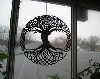 Celtic Tree window art
