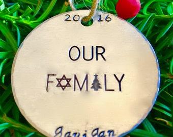 Jewish Family Hanukkah Decoration/Fusioned Family/Christmas Ornament/Chanukah Decoration/Hanukkah Decor/Gift for Jewish Family/Our Family  sc 1 st  Etsy & Diversity. Philanthropy. Humor. by FusionedFamily on Etsy