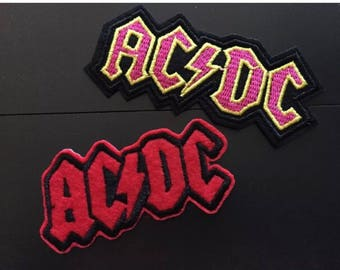 """2pc Rock Band Iron on Embroidered patches (L=1.25"""" W=3.5"""")"""
