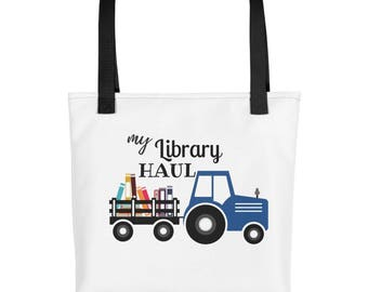 My Library Haul Tote Bag, Library Book Storage Bag