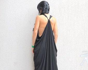 loose long tunic, asymmetric tunic, asymmetric caftan, black loose caftan, black plussize top, maxi plussize, caftan dress, black maxi dress