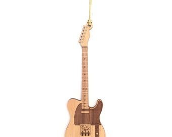 Wood Telecaster Guitar Ornament