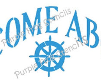 Welcome Aboard Stencil  Different Sizes Available ,Boat stencil, Beach