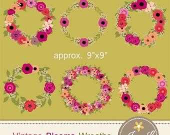 50% OFF Vintage Flower Wreath Clipart, Floral Wedding Wreaths, Antique  clipart for digital Scrapbooking, Wedding, Birthday Invitations