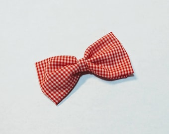Pretty Picnic- Red Gingham Fabric Bow