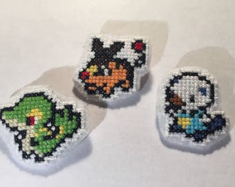 Cross Stitch Pokemon Starters (Gen 5)