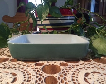 Green Pyrex Baking Dish