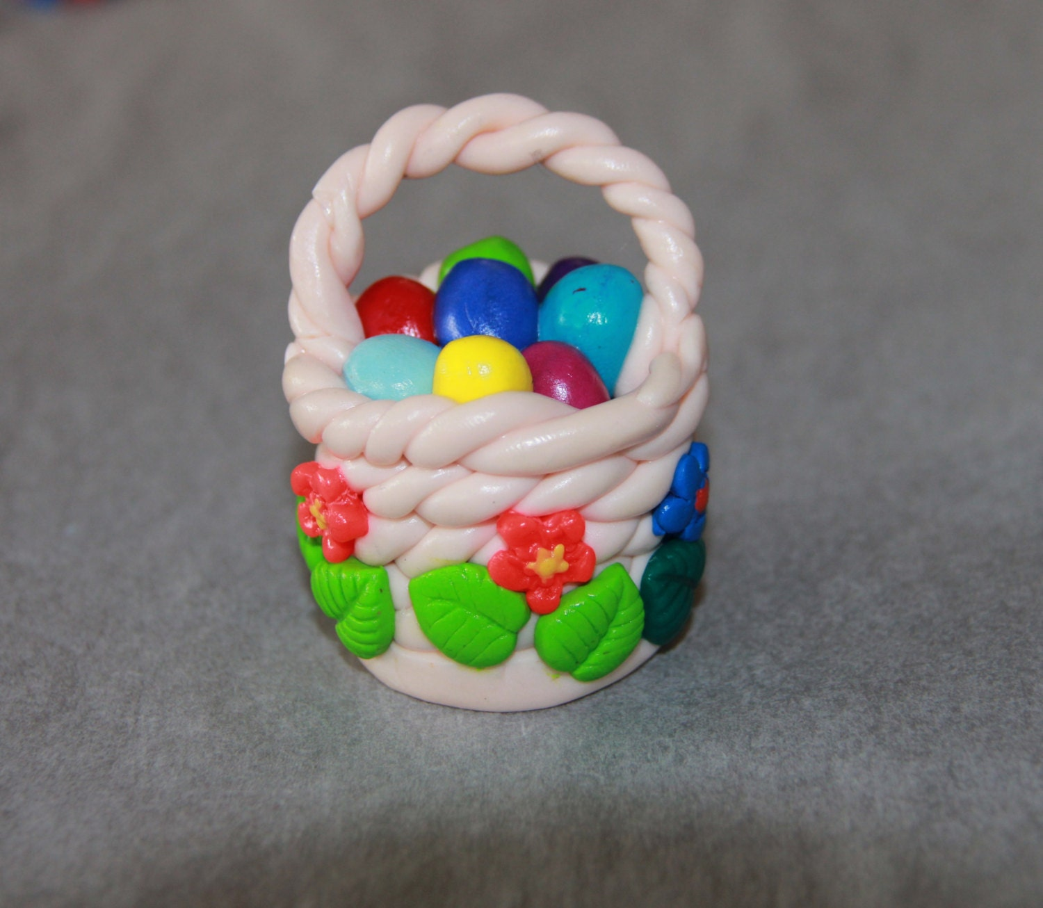 Polymer clay easter basket mini nest eggs kawaii birds zoom negle Image collections