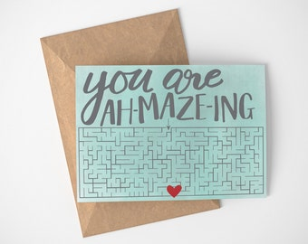 Thank You Card Funny, Puzzle Thank You Cards, Friend Thank You Cards, Best Friend Thank You, Handmade Thank You Cards, Puzzle Love