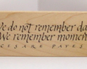 PSX We do not remember CESARE PAVESE Saying Rubber Stamp Rare