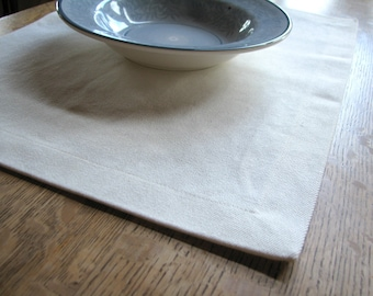 2 Hemp Placemats, Table Linens, Natural Placemats, Set of 2, Organic Place Mats, Table Linens