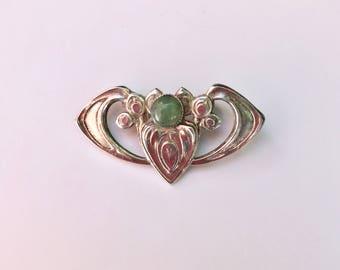 Art Nouveau Heart Brooch