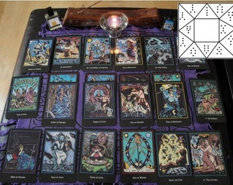 Multi-Oracle In-Depth Year Ahead Reading - Tarot Reading, Geomantic Chart (via Typed Email)