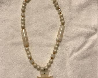 Glass Arrowhead Necklace