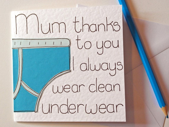 Mothers day card mum funny birthday card for mom greeting like this item bookmarktalkfo Image collections