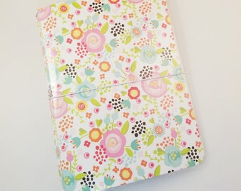 Spring Floral Traveler's Notebook Cover, Paperdori, Fauxdori, Planner, Journal, B6