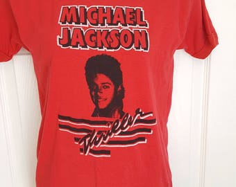 Vintage 1980s Michael Jackson THRILLER t-shirttee by TXT Activewear