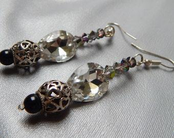 Pretty teardrop earrings, Totally sparkling earrings