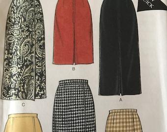 Wardrobe Staple Pencil or Mock Wrap Skirt Pattern---Style 2554---Sizes 10-22  UNCUT