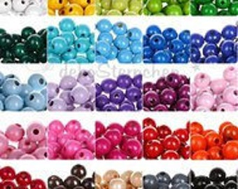 Wooden round beads 8 mm (bag of 50 beads)