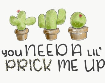 Punny Cacti Get Well Card