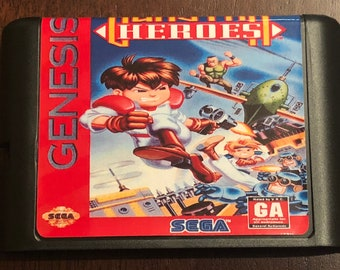 Gunstar Heroes Fan Made Custom Sega Genesis Game. 16bit!