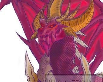 digital dragon art, Legend of Spyro, Malefor 2, the original