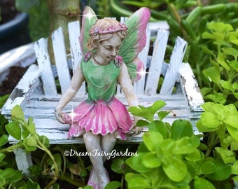Fairy garden fairy, mini sitting fairy, small fairy, mini fairy, miniature garden, mini fairy miniature garden