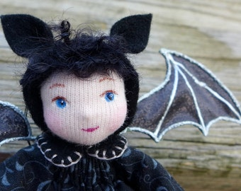 Miniature Cloth Doll - Bat Pixie