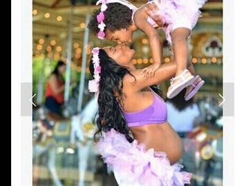 Matching mommy, daughter tutus