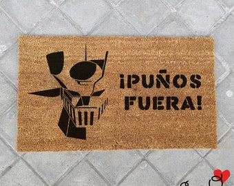 "Doormat ""Fists out!"" Mazinger Z """