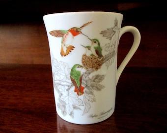 Hummingbirds. Otagiri Mug. Made in Japan.