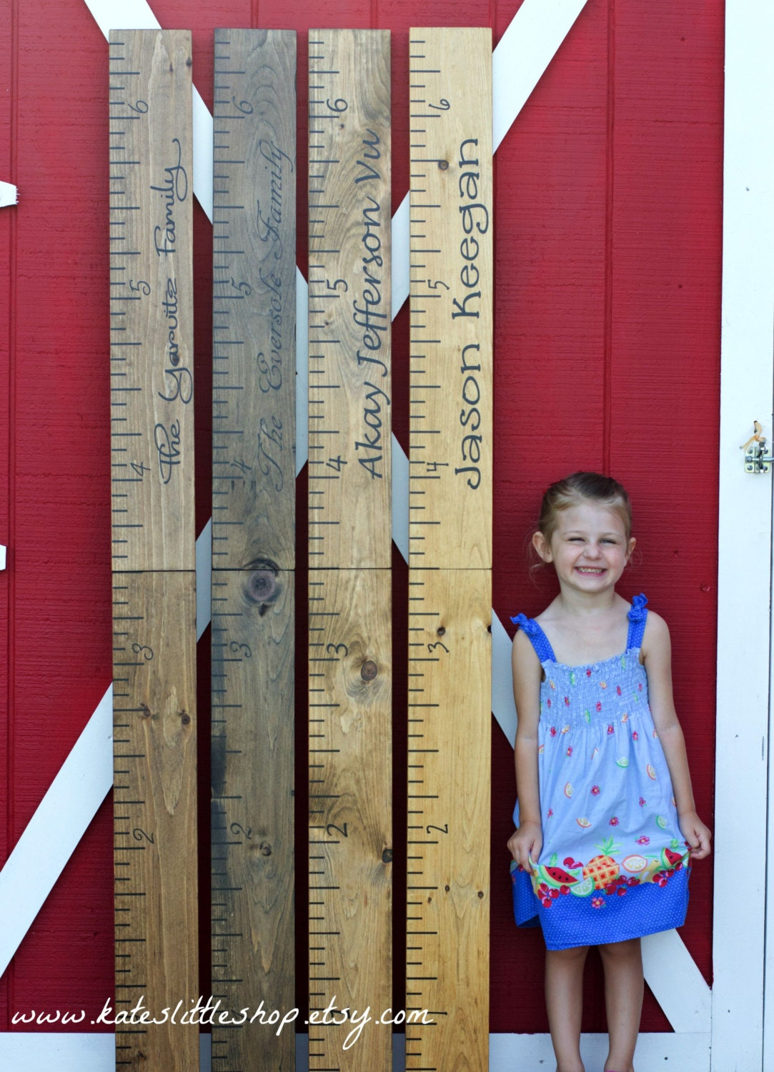 Giant ruler hand painted family growth chart childrens zoom nvjuhfo Choice Image