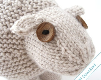 Knitting Pattern PDF. Toy Sheep. Knit Your Own Flock.