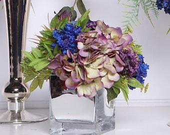 Luxury Blue Purple Hydrangea Flower Arrangement