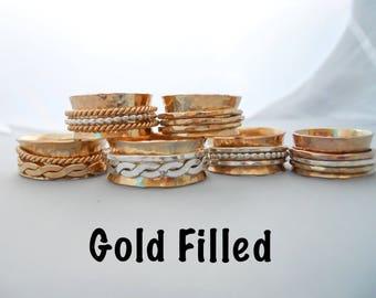 Fidget Spinner Ring - 14k Gold Filled