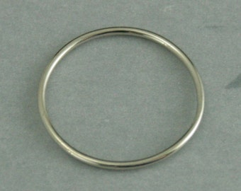 Thin White Gold Band--Women's Wedding Band--1mm Round Spacer Ring--10K White Gold Ring--Thin Wedding Ring--White Gold Stacking Ring