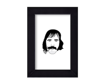 4 x 6 Framed Bill The Butcher Cutting / Gangs of New York Portrait