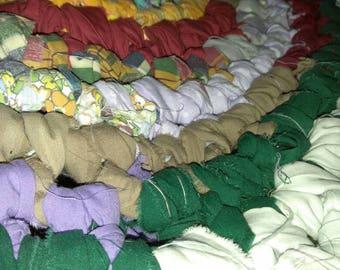 Multicolored rag rug
