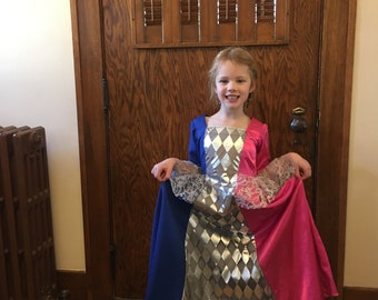 Princess Gown Halloween Costume or Dress Up