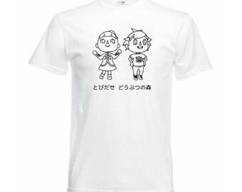 Animal Crossing Black Print Shirt(Different Colors)