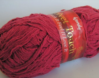 Yarn SALE VELVET TOUCH by Wendy Worsted Salmon Color 2053 Lot4026 approx 50 grams 105 meters