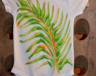 Hand Painted Onesie- Tropical