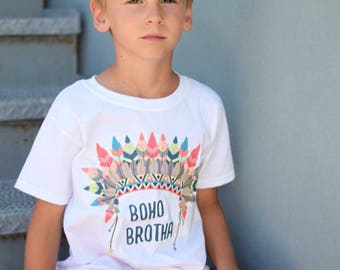 indian boho kids shirt, chief kids shirt, chief onesie, boho chief shirt, kids feather onesie, kids feather chief shirt, boho vibe, chief